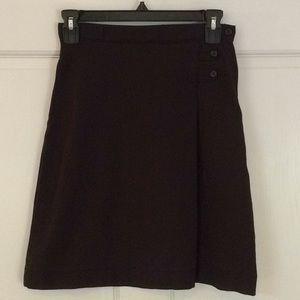 Lands' End Bottoms - Lands' End 12 Slim Black Adjustable Waist Skirt